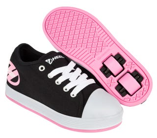 Two Wheel Heelys for Girls Fresh black and pink