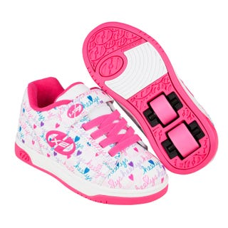 Heelys Dual Up with pink and blue hearts