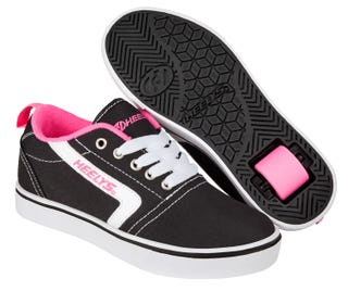 Heelys GR8 Pro Black and White with Pink Splashes