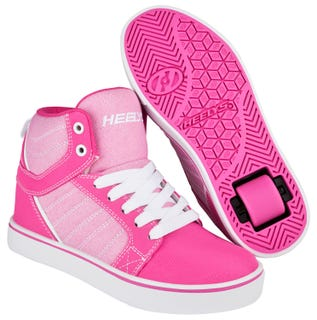 Heelys Uptown Hot Pink and White