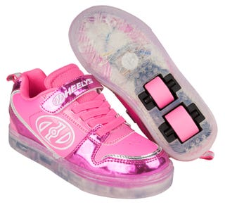 Heelys Boom Lighted with pink hearts