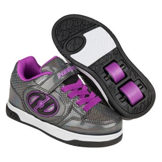 Roller shoes - Heelys Plus X2 Black / Sparkle / Purple