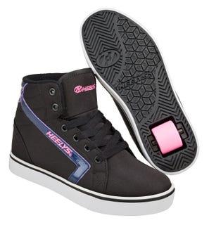 Heelys GR8 Hi Black Hologram and Pink