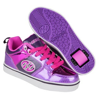 Heelys in purple with pink shimmer and grape