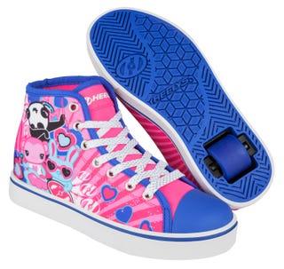 Heelys Veloz Pink and blue with pandas