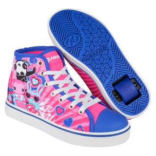 Adult Heelys - Veloz Pink / Purple / Panda Character