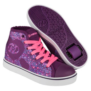 Adult Heelys - Veloz Purple / Pink / Hearts