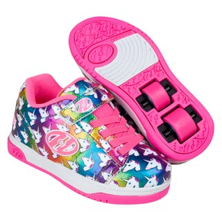 Shoes with Wheels - Heelys Dual Up X2 - Rainbows and Unicorns