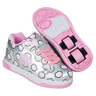 Shoes with Wheels - Heelys Dual UP X2 Silver Glitter
