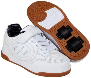 Shoes with Wheels - Heelys Plus X2 Lighted White and Gum