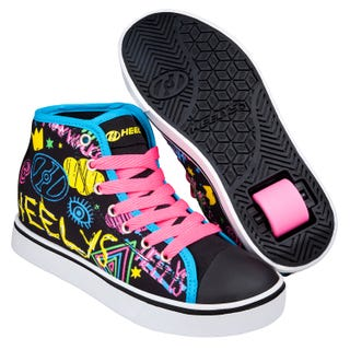 Adult Heelys - Veloz Black / Rainbow / Scribble