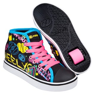Shoes with Wheels - Heelys Veloz Black with Doodles
