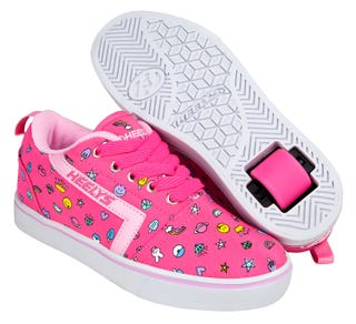 Shoes with Wheels - Heelys Gr8 Pro Prints Pink with Emojis