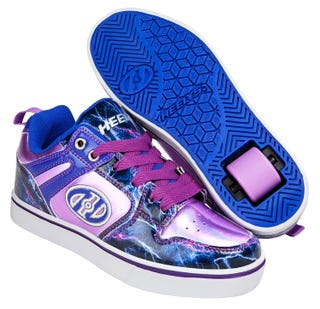 Shoes with Wheels - Heelys Motion 2.0 Electric Blue with Lightning