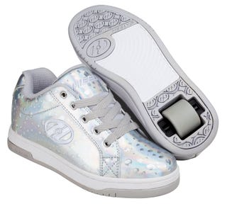 Shoes with Wheels - Heelys Split Silver Hologram with Water Droplets