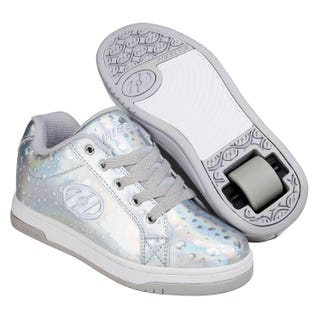 Shoes with Wheels - Heels Split in Silver