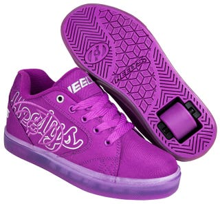 Shoes with Wheels - Heelys Vopel Grape and Silver