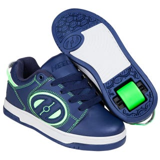 Shoes with Wheels - Heelys Voyager Navy with Bright Green