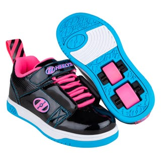 Heelys Shoes With Wheels - Rift x2 Black/ Neon Pink/ Cyan