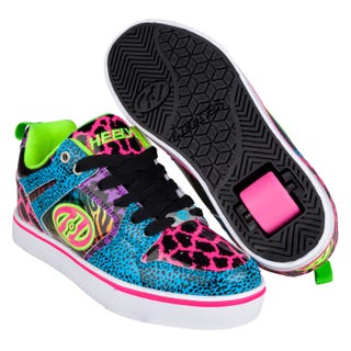 Heelys Adultes Motion 2 Bleu/Rose/Violet/Empreinte d'animal