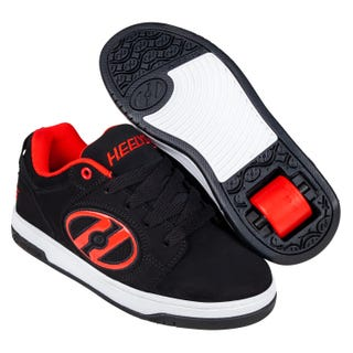 Shoes with wheels - Heelys Voyager Nubuck Black / White