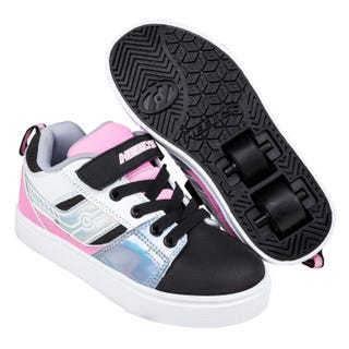 Sneakers with wheels - Heelys Racer Black/Silver/White/Pink