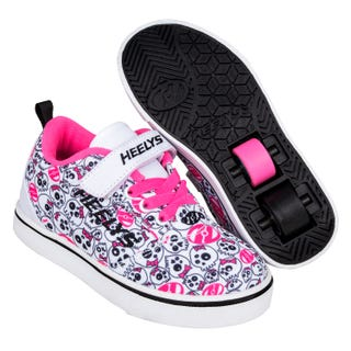 Heelys Pro 20 X2 White / Black /Hot Pink /Skull