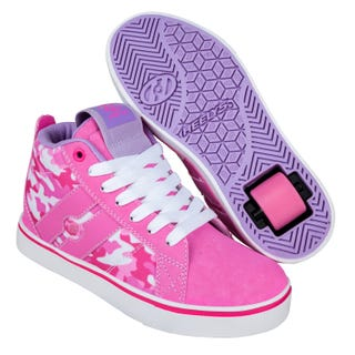 Heelys - Racer Mid 20 Pink / Hot Pink / White / Camo