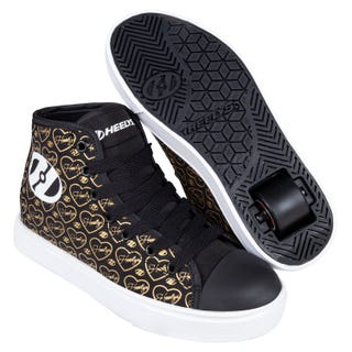 Heelys Adult Veloz Black / Gold Hearts
