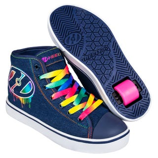 Shoes with wheels - Heelys Adults Veloz Denim Rainbow Drip