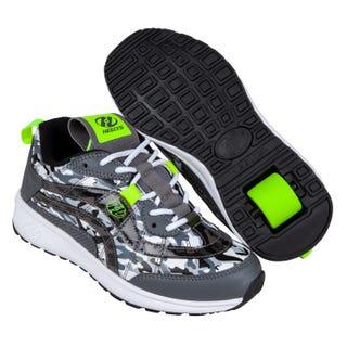 Sneakers with wheels - Heelys Adult Nitro Charcoal / Camo / Yellow