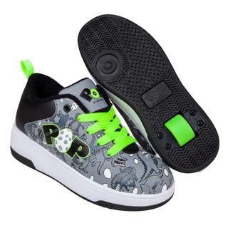 Heelys POP - Strive Charcoal / Black / Bright Green / Dino