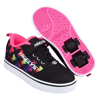 Heelys Pro 20 x 2 Black/Rainbow Metallic Hearts