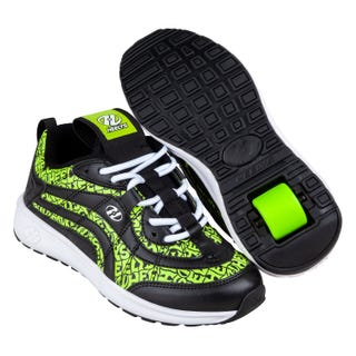 Heelys Nitro Black/Neon Yellow Repeat for Adults