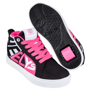 Heelys Racer 20 Mid Adults Black / White / Neon Pink