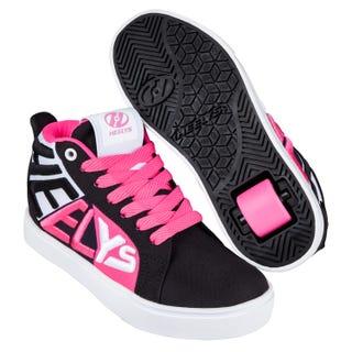 Heelys Racer 20 Sort / Hvid / Neon Pink