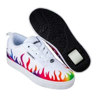 Heelys Pro 20 Prints White / Rainbow Flames