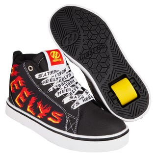 Heelys Adult Racer 20 Mid Black / White / Red / Yellow Flame