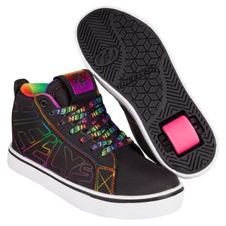 Heelys Adults Racer 20 Mid Black / Rainbow