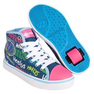 Heelys Veloz Adults Blue / Denim / Multi Logos
