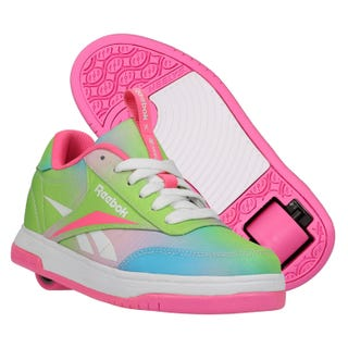 Reebok X Heelys Adults Court Low Electric Pink / Neon Mint / Digi Glow