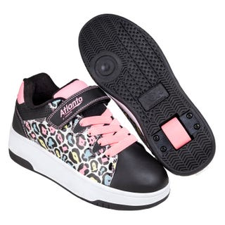 Sneakers with Wheels - New! Heelys Atlanta Cheetah / Black / Pink