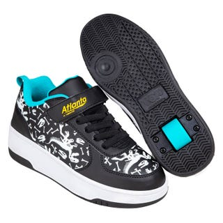 Sneakers with Wheels - New! Heelys Atlanta Bones / Black / Cyan