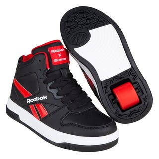 Reebok X Heelys BB4500 Mid Adults Black/Vector Red/White
