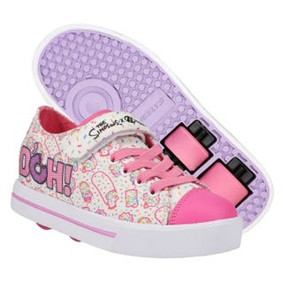 The Simpsons x Heelys Snazzy X2 White/Pink/Lavender