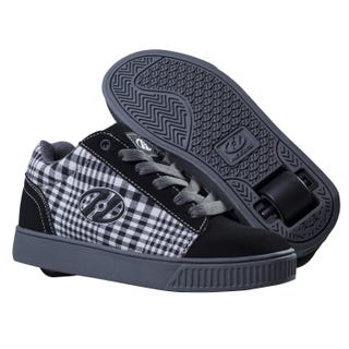 Heelys Adults Straight Up Black/Plaid/Charcoal/White